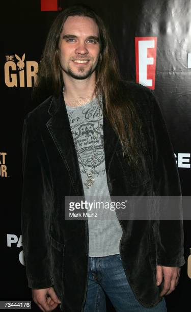 Television personality Bo Bice attends the launch party for season three of The Girls Next Door at the Playboy Mansion February 27 2007 in Bel Air...