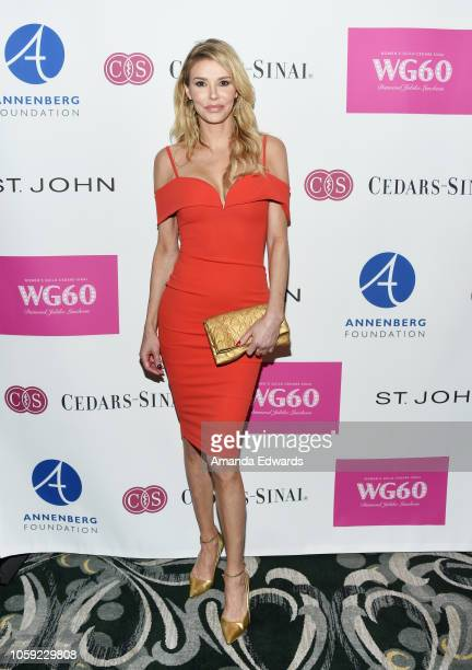 Television personality Brandi Glanville arrives at the Women's Guild CedarsSinai's Diamond Jubilee Luncheon at the Wilshire Four Seasons Hotel on...