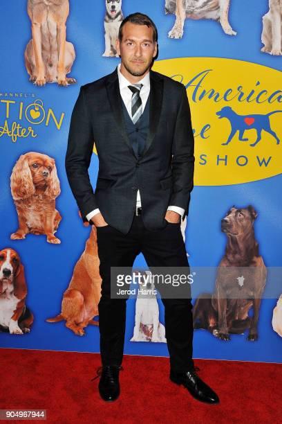 Television personality Brandon McMillan` attends the 2018 American Rescue Dog Show at Pomona Fairplex on January 14, 2018 in Pomona, California.