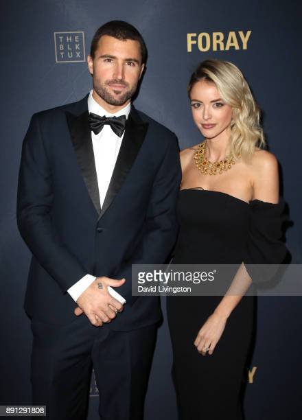 Television personality Brody Jenner and Kaitlynn Carter attend FORAY Collective and The Black Tux Host Holiday Gala on December 12 2017 in Los...