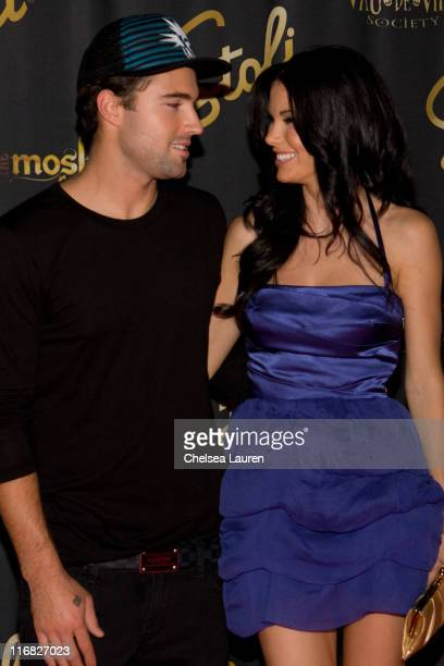 Television personality Brody Jenner and playmate Jayde Nicole attend a performance of The Moskova Affair by Vau de Vire Society on August 27 2009 in...