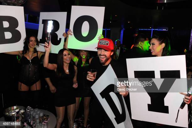 Television personality Brody Jenner attends a New Year's weekend celebration at Ghostbar at the Palms Casino Resort on December 29, 2013 in Las...