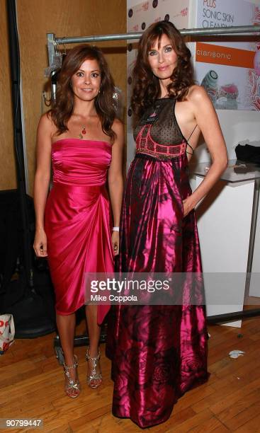 Television personality Brooke Burke and model Carol Alt attend the Pink Dress Collection event during Style360 Fashion Week at the Metropolitan...