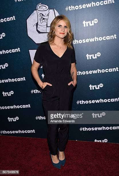 Television personality Brooke Van Poppelen arrives at the premiere of truTV's Those Who Can't at The Wilshire Ebell Theatre on January 28 2016 in Los...