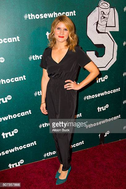 Television personality Brooke Van Poppelen arrives at the premiere of truTV's 'Those Who Can't' at The Wilshire Ebell Theatre on January 28 2016 in...