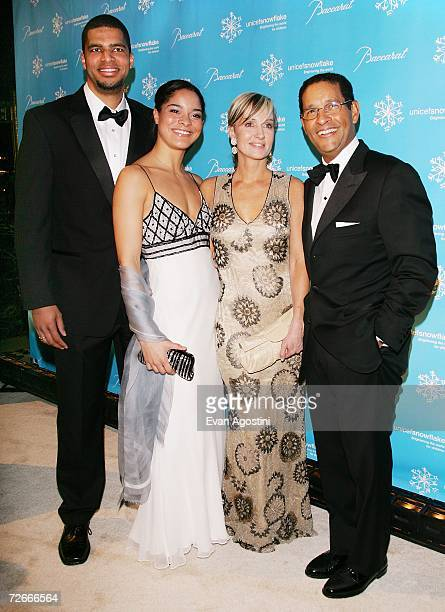 Television personality Bryant Gumbel wife Hilary Quinlan daughter Jillian and son Bradley attend the Third Annual UNICEF Snowflake Ball at Cipriani's...