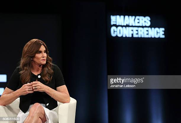 Television personality Caitlyn Jenner speaks on stage at the 2016 MAKERS Conference Day 2 at the Terrenea Resort on February 2 2016 in Rancho Palos...