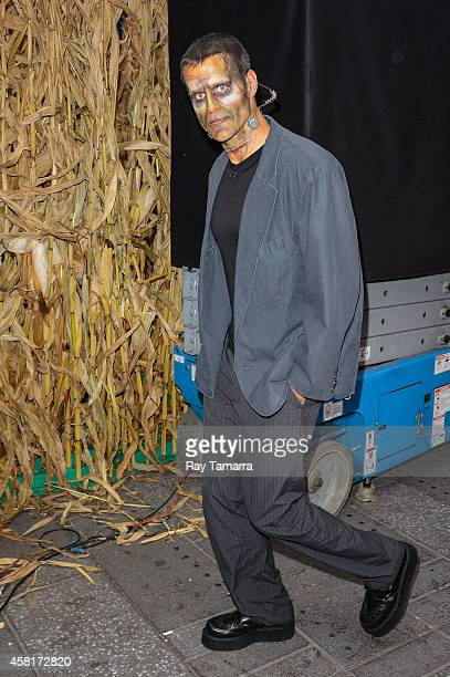Television personality Cameron Mathison dressed as Frankenstein enters the 'Good Morning America' taping at the ABC Times Square Studios on October...