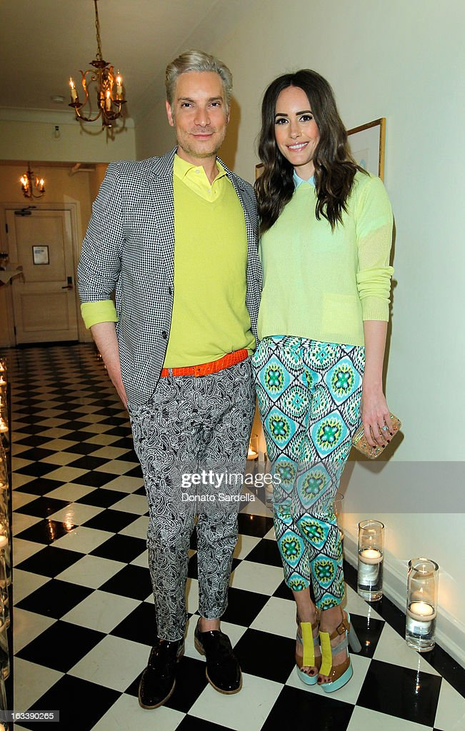 Television personality Cameron Silver and Louise Roe attend Joe Fresh private dinner hosted by Joe Mimran and Kate Mara at The Chateau Marmont on March 8, 2013 in Los Angeles, California.