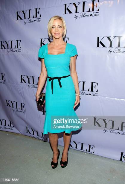 Television personality Camille Grammer arrives at the grand opening of Kyle Richards' new boutique Kyle By Alene Too on July 21 2012 in Beverly Hills...