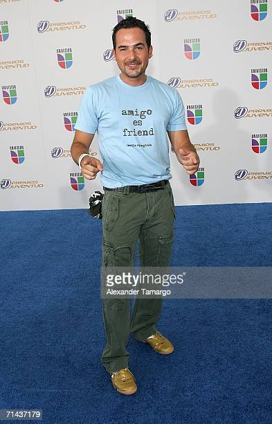 Television personality Carlos Calderon arrives at the 3rd Annual Premios Juventud Awards at the University of Miami BankUnited Center July 13 2006 in...