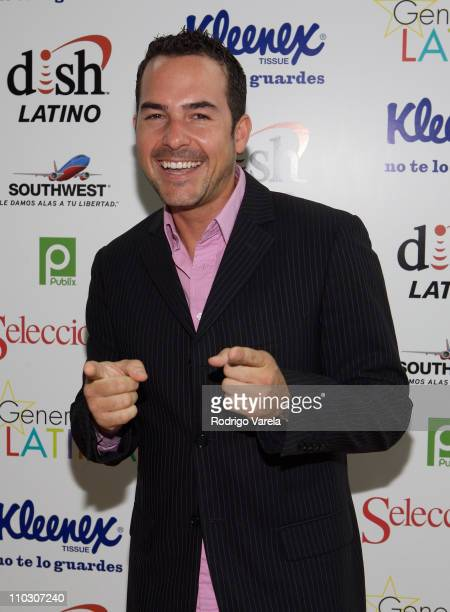 Television personality Carlos Calderon attends at the Selecciones Generation Latino 2007 at Bongos on October 3 2007 in Miami