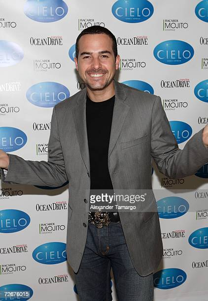 Television personality Carlos Calderon poses at the grand opening of Cielo Restaurant on November 29 2006 in Coconut Grove Florida