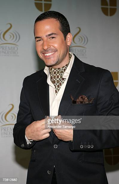 Television personality Carlos Calderon poses at Univision studios during the announcement of the nominees for the 2007 Premio Lo Nuestro awards show...