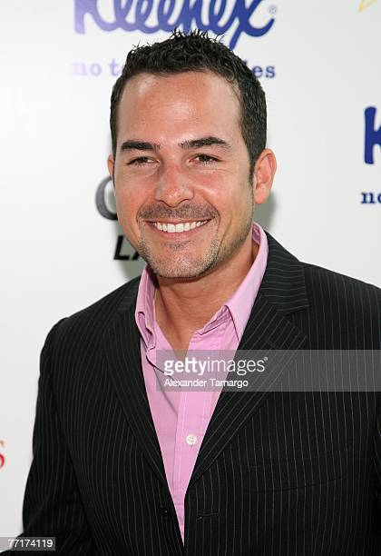 Television personality Carlos Calderon poses during the Selecciones Generation Latino event at Bongos Cuban Cafe on October 3 2007 in Miami Florida