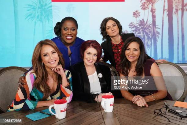 Television personality Carrie Ann Inaba and actress Constance Marie guest cohost on The Talk Wednesday November 21 2018 on the CBS Television Network...