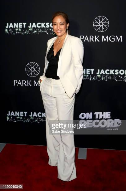 Television personality Carrie Ann Inaba attends the after party for the debut of Janet Jackson's residency Metamorphosis at On The Record Speakeasy...