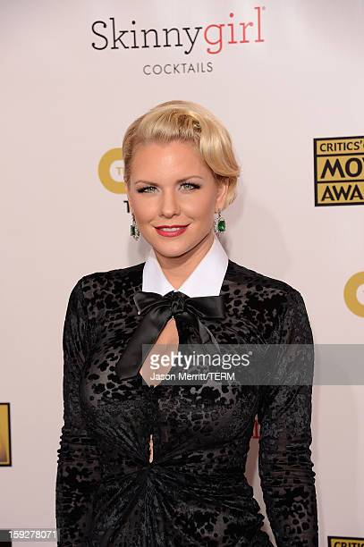 Television personality Carrie Keagan arrives at the 18th Annual Critics' Choice Movie Awards held at Barker Hangar on January 10 2013 in Santa Monica...