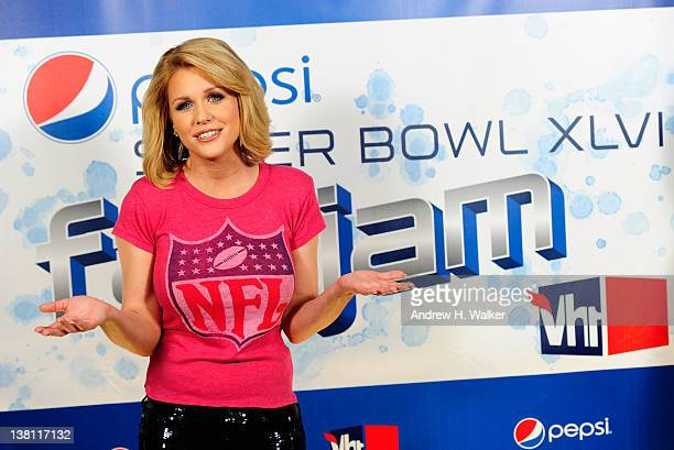 Television Personality Carrie Keagan attends Vh1 Pepsi Super Bowl Fan Jam with Gym Class Heroes BoB and AllAmerican Rejects held at Indiana State...