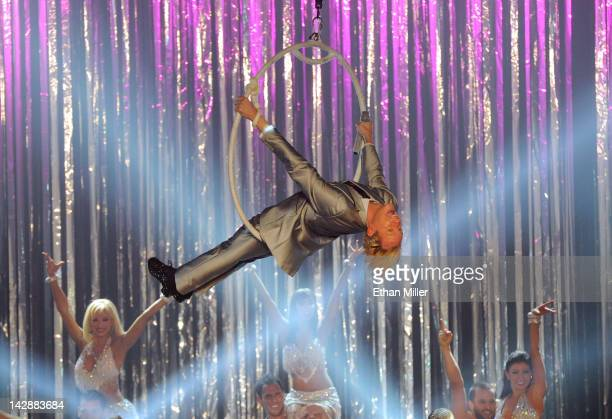 Television personality Carson Kressley performs during the grand opening of Dancing With the Stars Live in Las Vegas at the New Tropicana Las Vegas...