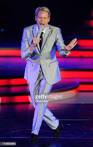Television personality Carson Kressley speaks during the grand opening of Dancing With the Stars Live in Las Vegas at the New Tropicana Las Vegas...