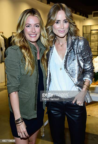 Television Personality Cat Deeley and designer Anine Bing attend the Anine Bing Celebrates Los Angeles Flagship Opening at Anine Bing Boutique on...