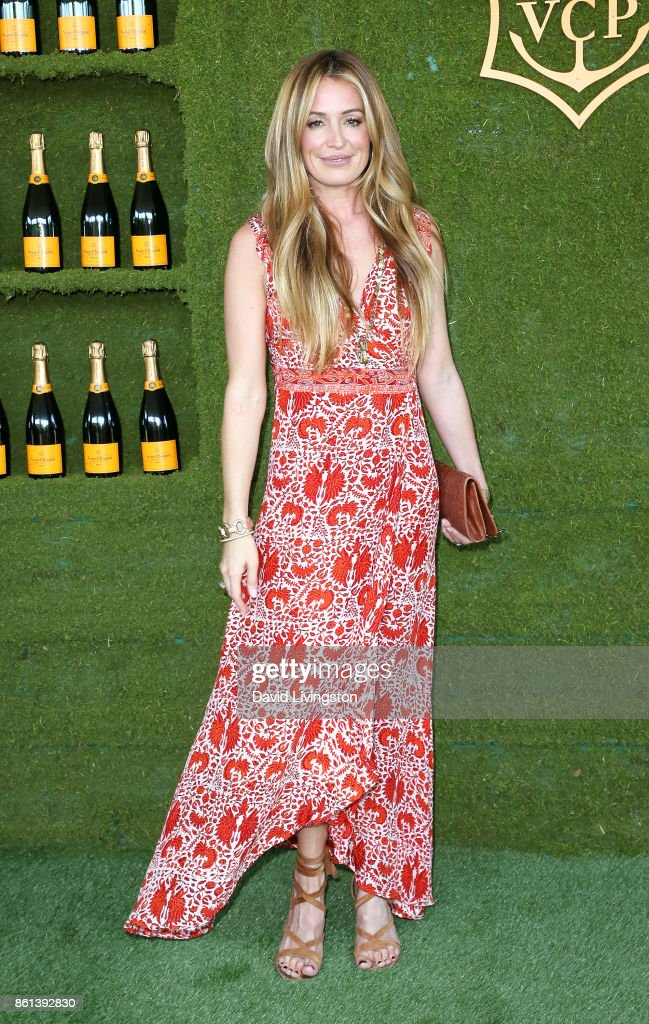 Television personality Cat Deeley attends the 8th Annual Veuve Clicquot Polo Classic at Will Rogers State Historic Park on October 14, 2017 in Pacific Palisades, California.