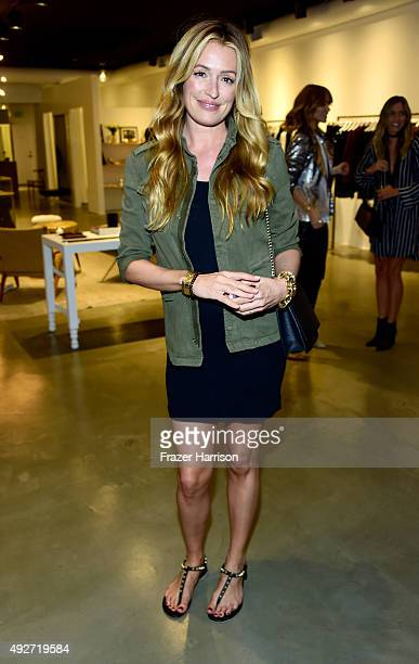 Television personality Cat Deeley attends the Anine Bing Celebrates Los Angeles Flagship Opening at Anine Bing Boutique on October 14 2015 in Los...