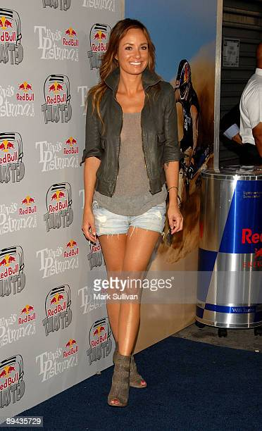 Television personality Catt Sadler arrives at the XGames Red Bull Toasted Action Sports party honoring icon Travis Pastrana at Avalon on July 28 2009...