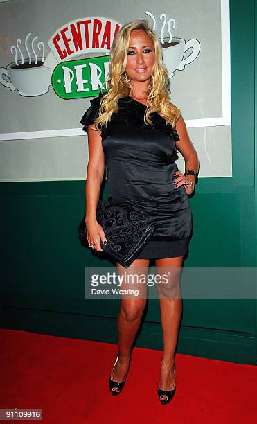 Television personality Chantelle Houghton attends the Central Perk Party to launch the Friends DVD on September 23 2009 in London England