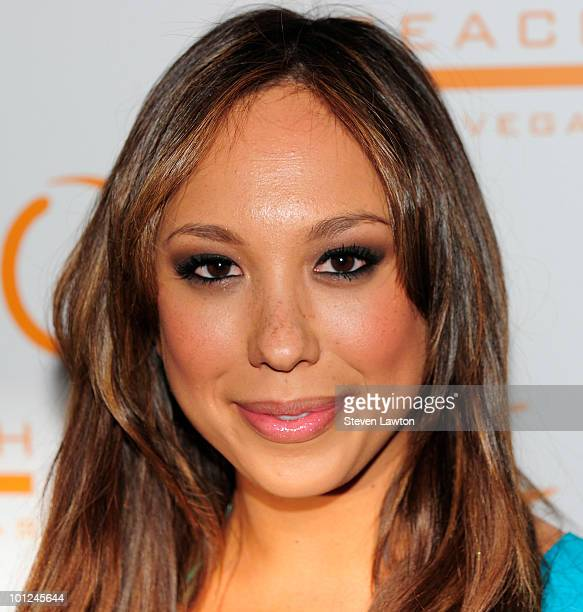 Television personality Cheryl Burke arrives at TAO Beach on May 28 2010 in Las Vegas Nevada