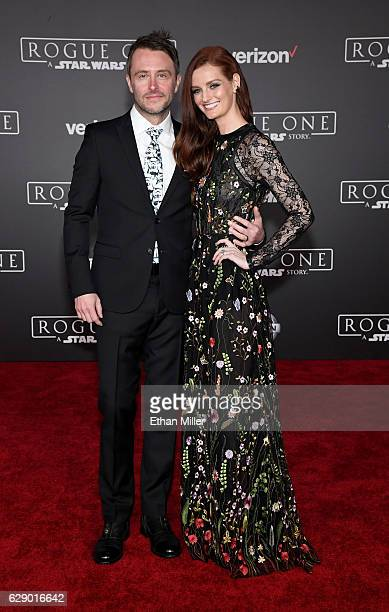 Television personality Chris Hardwick and his wife model/actress Lydia Hearst attend the premiere of Walt Disney Pictures and Lucasfilm's Rogue One A...