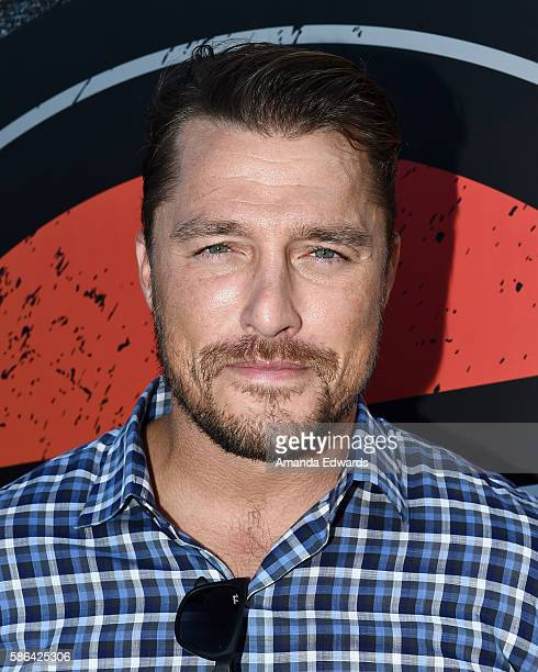Television personality Chris Soules poses backstage at the ALT 987 Summer Camp at the Santa Monica Pier on August 5 2016 in Santa Monica California