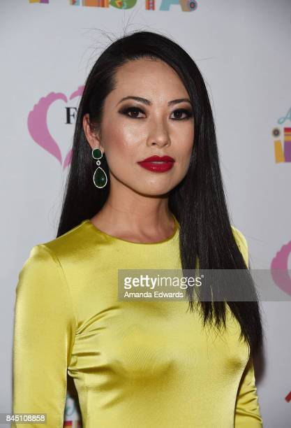 Television personality Christine Chiu arrives at the Farrah Fawcett Foundation's TexMex Fiesta event honoring Stand Up To Cancer at the Wallis...