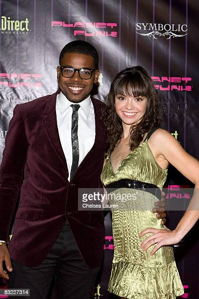 Television personality Christopher Mannor and actress Annemarie Pazmino arrives at Planet Funk's fashion week kickoff party at Kress on October 10...