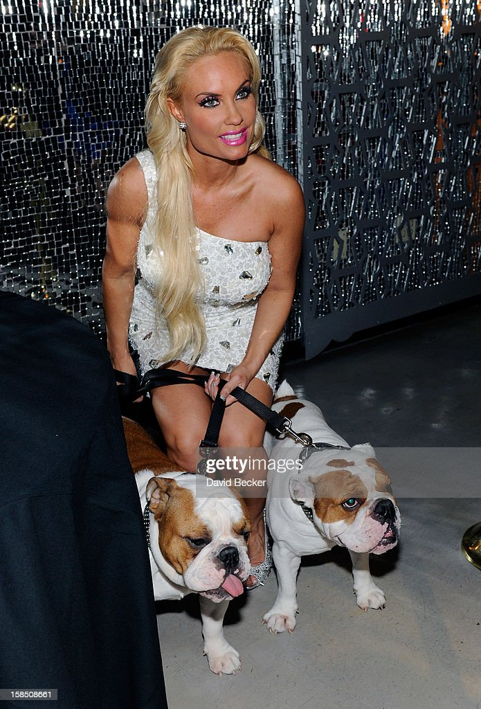 Television personality Coco Austin attends a reception after her opening night performance in 'Peepshow' at the Planet Hollywood Resort and Casino on December 17, 2012 in Las Vegas, Nevada.