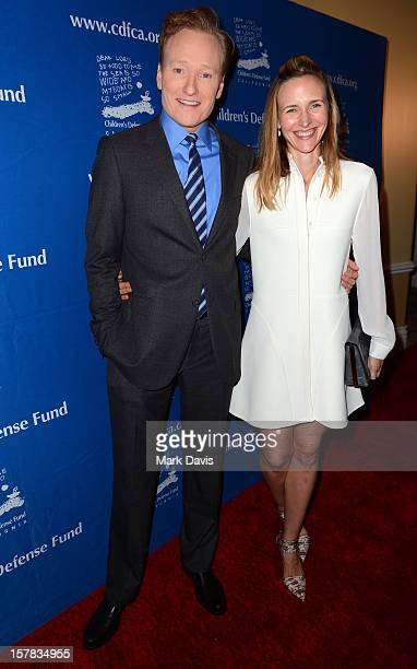Television personality Conan O'Brien and Liza O'Brien arrive at the Children's Defense Fund of California 22nd Annual Beat The Odds Awards at Beverly...