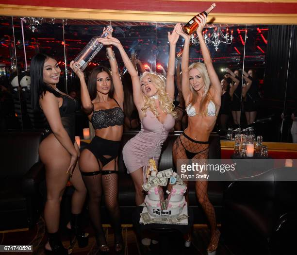 Television personality Courtney Stodden hosts her official divorce party at Crazy Horse III Gentlemen's Club on April 28 2017 in Las Vegas Nevada