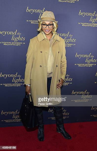 Television personality Cynthia Bailey attends Beyond The Lights Advanced Screening at AMC Phipps Plaza on November 13 2014 in Atlanta Georgia