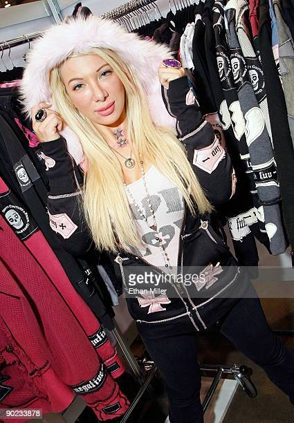 Television personality Daisy De La Hoya from the VH1 series Daisy of Love appears at the SYC FUK booth at the MAGIC convention at the Las Vegas...