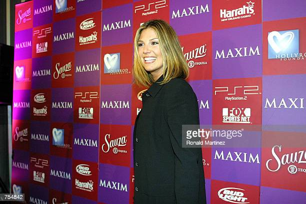 Television personality Daisy Fuentes arrives at Maxim's Super Bowl benefit for the HollyRod Foundation February 1 2002 in New Orleans LA