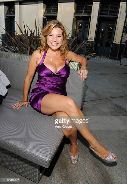 Television personality Dana Wilkey attends Fashion's Night Out celebration at Westfield Century City on September 8 2011 in Los Angeles California