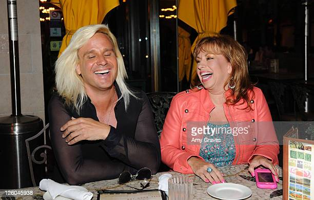 Television personality Daniel DiCriscio and Paula Jones are seen on the street on April 27 2011 in Los Angeles California