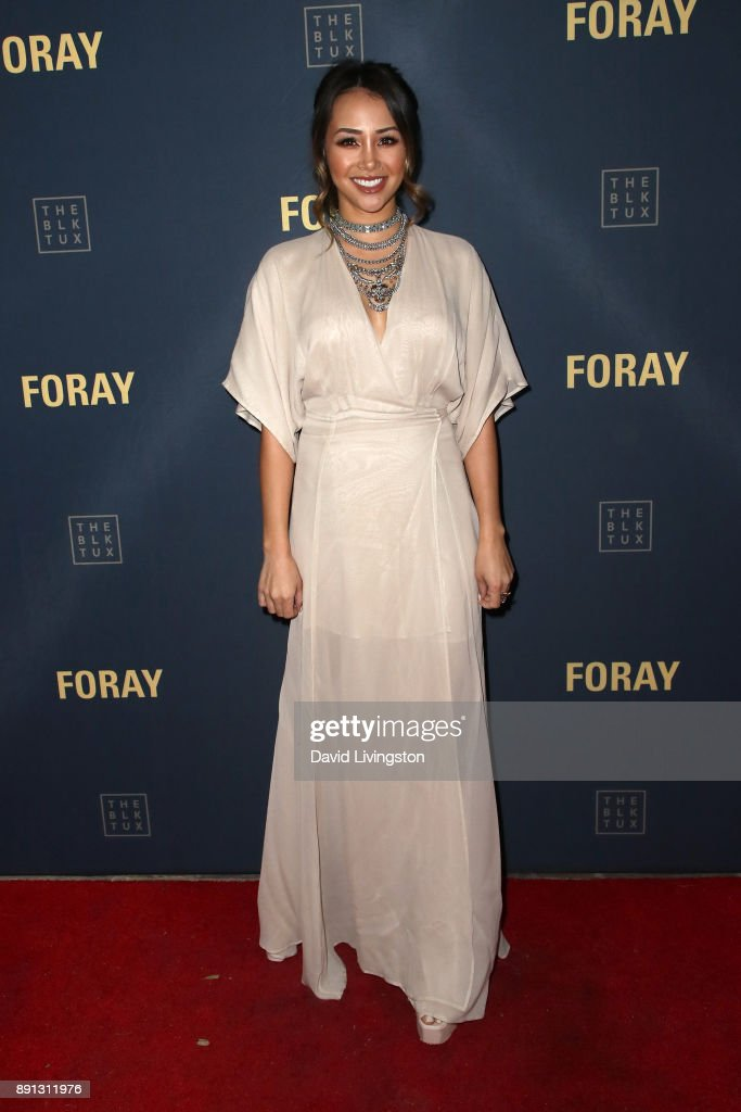 Television personality Danielle Lombard attends FORAY Collective and The Black Tux Host Holiday Gala on December 12, 2017 in Los Angeles, California.