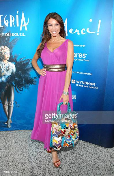 Television personality Danielle Staub visits Cirque du Soleil's Alegria at the Prudential Center July 15 2009 in Newark New Jersey
