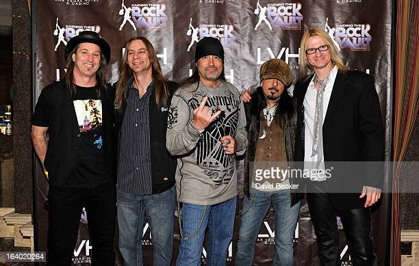 Television personality Danny The Count Koker and his Zito 77 band arrive at the grand opening of Raiding the Rock Vault at the Las Vegas Hotel Casino...