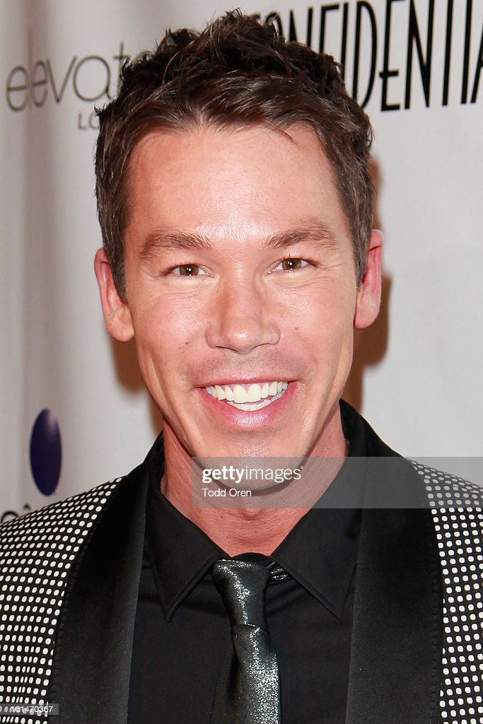 Television Personality David Bromstad poses at the Los Angeles Confidential Magazine and Mary J. Blige Celebrate the GRAMMYS at Elevate Lounge on February 10, 2013 in Los Angeles, California.