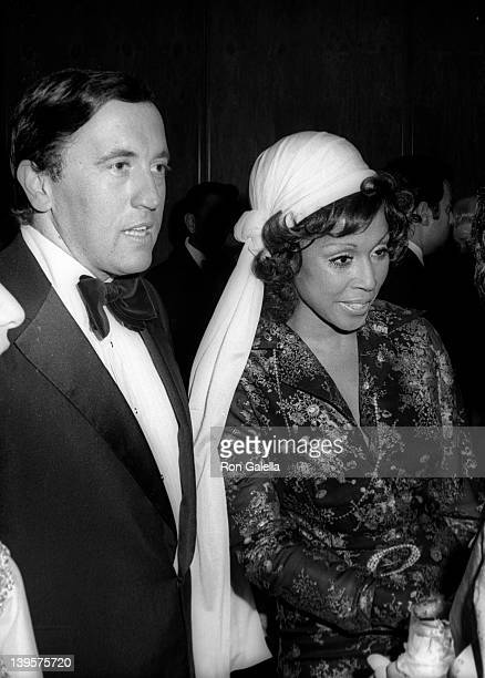 Television Personality David Frost and singer Diahann Carroll attend Joseph Kennedy Jr Foundation International Symposium on Human Rights Retardation...