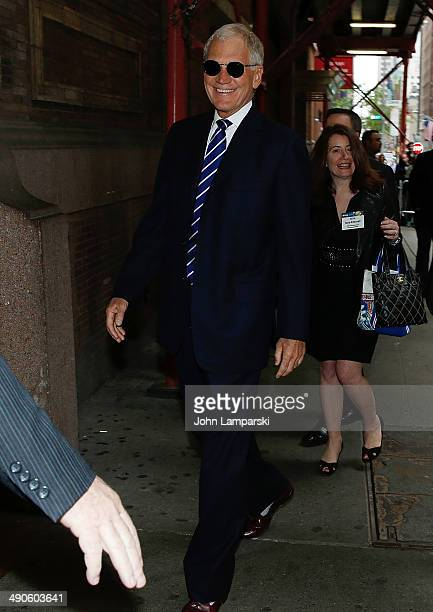 Television personality David Letterman is seen at the 2014 CBS Upfront at Carnegie Hall on May 14 2014 in New York City