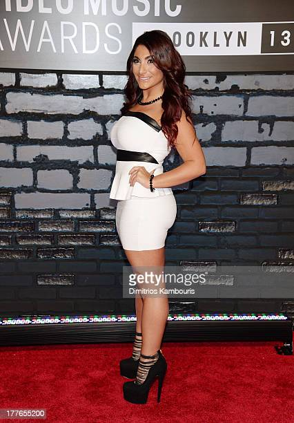 Television personality Deena Cortese attends the 2013 MTV Video Music Awards at the Barclays Center on August 25 2013 in the Brooklyn borough of New...